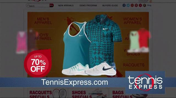 Tennis Express Sizzling Summer Sale TV Spot, 'Shoes & Apparel' - Thumbnail 3
