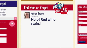Resolve Carpet Cleaner TV Spot, 'Tip Exchange: Hallways & Red Wine' - Thumbnail 4