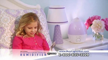 Ultrasonic Color Changing Humidifier TV Spot, 'Soothing'