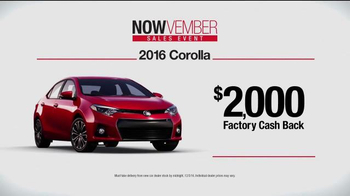 Toyota Nowvember Sales Event TV Spot, '2016 Corolla' - Thumbnail 3
