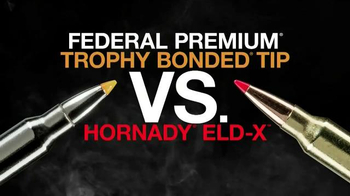 Federal Premium Trophy Bonded Tip TV Spot, 'Beats Hornady ELD-X'