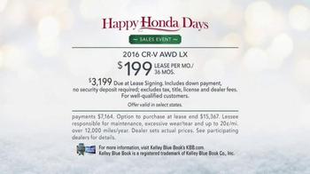 Happy Honda Days Sales Event TV Spot, 'Great Outdoors CR-V' - Thumbnail 8