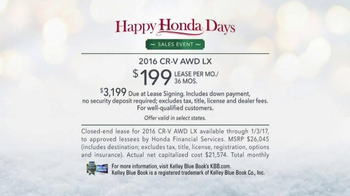 Happy Honda Days Sales Event TV Spot, 'Great Outdoors CR-V' - Thumbnail 7