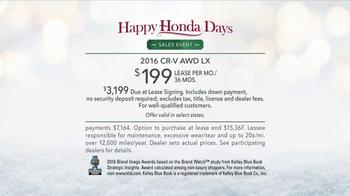 Happy Honda Days TV Spot, 'Gifts' [T2] - Thumbnail 10