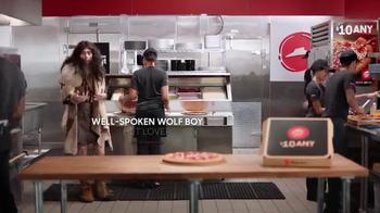 Pizza Hut $10 Any Deal TV Spot, 'Well-Spoken Wolf Boy' - Thumbnail 1