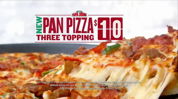 Papa John's Pan Pizza TV Spot, 'Carry' Featuring Peyton Manning, J.J. Watt - Thumbnail 8