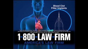 1-800-LAW-FIRM TV Spot, 'IVC Filter Implants'