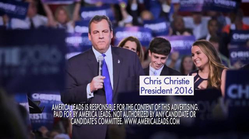 America Leads TV Spot, 'Lead' Featuring Chris Christie - Thumbnail 6