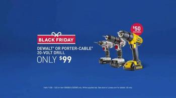 Lowe's Black Friday Deals TV Spot, 'Drills' - Thumbnail 7