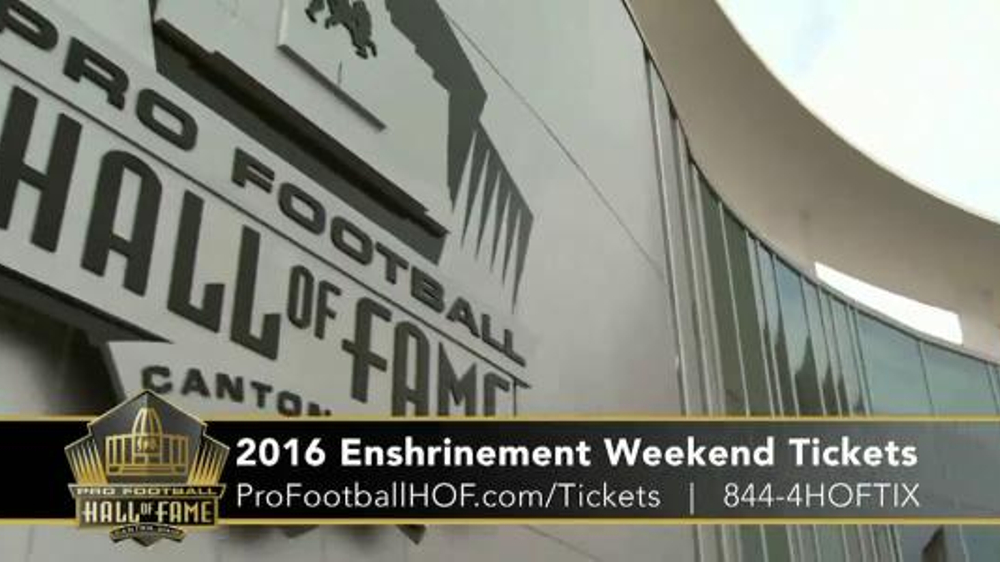 Pro Football Hall of Fame TV Commercial, '2016 Enshrinement Weekend Tickets'