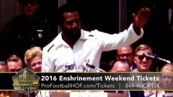 Pro Football Hall of Fame TV Spot, '2016 Enshrinement Weekend Tickets' - Thumbnail 5
