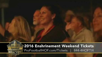Pro Football Hall of Fame TV Spot, '2016 Enshrinement Weekend Tickets' - Thumbnail 6