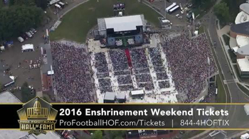 Pro Football Hall of Fame TV Spot, '2016 Enshrinement Weekend Tickets' - Thumbnail 7