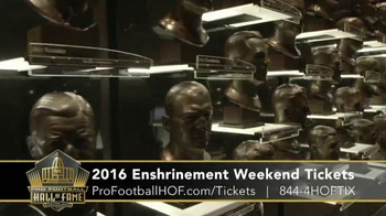 Pro Football Hall of Fame TV Spot, '2016 Enshrinement Weekend Tickets' - Thumbnail 9