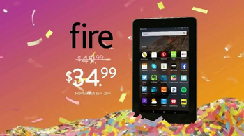 Amazon Black Friday Deals Week TV Spot, 'Fire Tablet' - 70 commercial airings