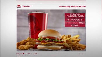 Wendy's 4 for $4 Meal TV Spot, 'Engagement Photo' - Thumbnail 2