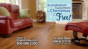 Empire Today 50/50/50 Sale TV Spot, 'Floors Before Christmas' - Thumbnail 4