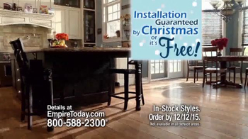 Empire Today 50/50/50 Sale TV Spot, 'Floors Before Christmas' - Thumbnail 8