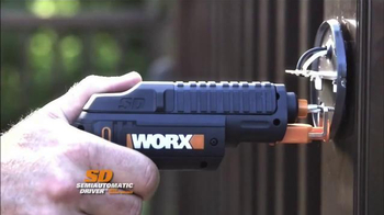 Worx SD SemiAutomatic Driver With Screw Holder TV Spot, 'Holds Screws'