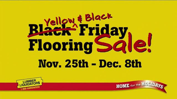 Lumber Liquidators Yellow & Black Friday Sale TV Spot, 'Flooring' - Thumbnail 10
