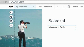 La página web de un fotógrafo thumbnail