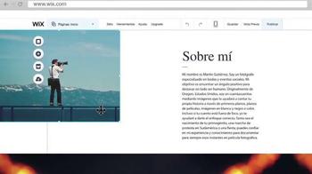 Wix.com TV Spot, 'La página web de un fotógrafo' [Spanish] - Thumbnail 4