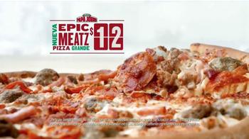 Papa John's Epic Meatz Pizza TV Spot, 'Apasionados de la carne' [Spanish] - Thumbnail 7