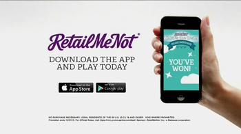 Retailmenot.com App TV Spot, 'What's the Deal? Sweepstakes' - Thumbnail 9