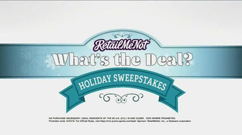 Retailmenot.com App TV Spot, 'What's the Deal? Sweepstakes' - Thumbnail 8