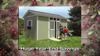 Tuff Shed Huge Year-End Savings TV Spot, 'Holidays: Your Roof' - Thumbnail 8