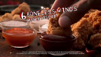 Popeyes $5 Boneless Wing Bash TV Spot, 'Back for the Holidays' - Thumbnail 4