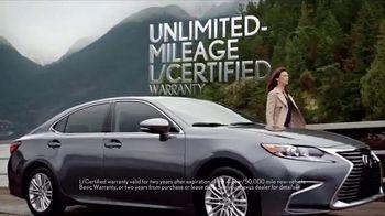 Lexus L/Certified TV Spot, 'Unlimited Mileage Warranty' - 1552 commercial airings