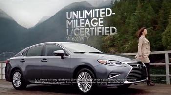 Lexus L/Certified TV Spot, 'Unlimited Mileage Warranty' - Thumbnail 4
