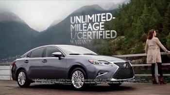 Lexus L/Certified TV Spot, 'Unlimited Mileage Warranty' - Thumbnail 5