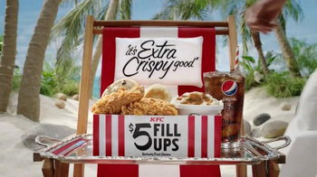 KFC $5 Fill Up TV Spot, 'Tray' Featuring George Hamilton - Thumbnail 7