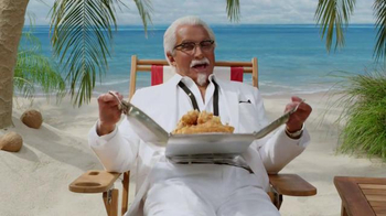 KFC $5 Fill Up TV Spot, 'Tray' Featuring George Hamilton