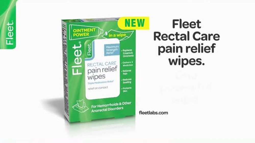 Fleet Rectal Care Pain Relief Wipes Tv Commercial Strength And