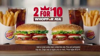 Burger King 2 for $10 Whopper Meal TV Spot, 'Twins' - Thumbnail 7