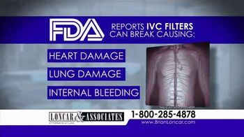 Loncar & Associates TV Spot, 'IVC Filter'