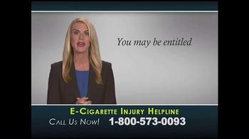 Injury Helpline TV Spot, 'E-Cigarette Explosions' - Thumbnail 3