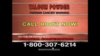 Knightline Legal TV Spot, 'Talcum Powder Warning' - Thumbnail 10