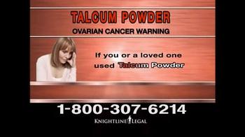 Knightline Legal TV Spot, 'Talcum Powder Warning' - Thumbnail 2