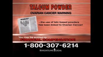 Knightline Legal TV Spot, 'Talcum Powder Warning' - Thumbnail 4
