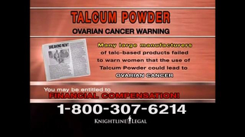 Knightline Legal TV Spot, 'Talcum Powder Warning' - Thumbnail 5