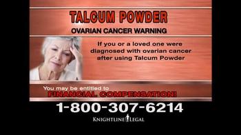 Knightline Legal TV Spot, 'Talcum Powder Warning' - Thumbnail 6