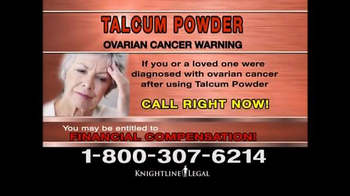 Knightline Legal TV Spot, 'Talcum Powder Warning' - Thumbnail 7