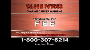 Knightline Legal TV Spot, 'Talcum Powder Warning' - Thumbnail 9