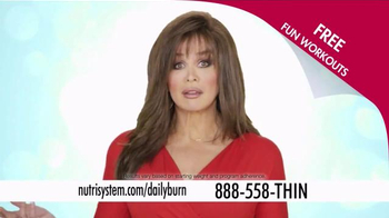 Nutrisystem Turbo10 TV Spot, 'Daily Burn' Featuring Marie Osmond - 1434 commercial airings