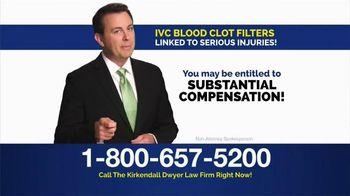 Kirkendall Dwyer LLP TV Spot, 'Blood Clot Filters'