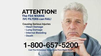 Kirkendall Dwyer LLP TV Spot, 'Blood Clot Filters' - Thumbnail 2